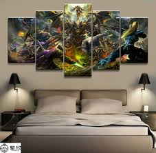 <b>5 Piece HD Picture</b> WOW Hero Illidan Stormrage Pictures Wall ...