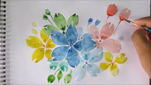 Easy Painting Easy Watercolor Painting For Beginners Easy Flower Painting
