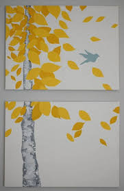 19 easy canvas painting ideas 10 11 yellow leaves blowing in the wind