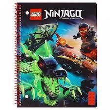 Тетрадь 70л лин на гребне <b>LEGO Ninjago</b>, 20,3х26,6см Картон ...