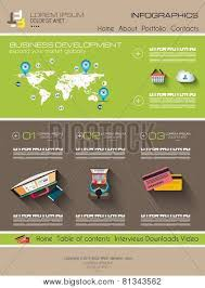 Infographic Website Template Modern Website Template With Flat Style Infographics Layout For Your