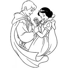 Disegno Di Biancaneve E Il Principe Azzurro Da Colorare Per Bambini