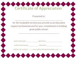 Printable Appreciation Certificates Free Printable Templates For Certificates Of Recognition Certificate