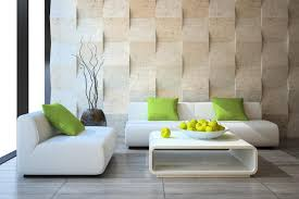 Quirky Living Room Natural Quirky Wall Living Room Wall Painting With White Sofas And