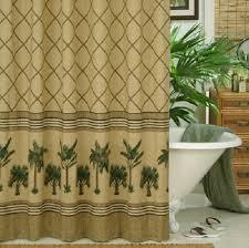 karin maki kona tropical palm tree shower curtain 72x72 valance 88x15 set