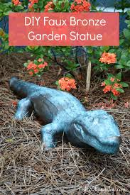 diy faux bronze garden statue tutorial paint almost anything to look like real bronze for a