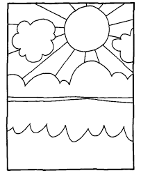 Small Picture Bluebonkers Summer Coloring Sheets Summer Sun Lake clouds