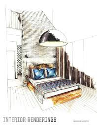 interior design drawings perspective.  Design Dazzling Interior Designer Drawings 15 Design Sketches Portfolio By Adrie  Costanza Pinterest  Garage Luxury  Intended Perspective E