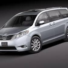 Toyota Sienna 2011 3D Model $129 - .obj .lwo .fbx .c4d .max .3ds ...