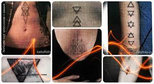 значение тату треугольник с линией смысл история фото рисунков