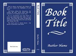 exle book cover template