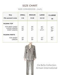 Pajama Set Sateen Cotton Striped Cia Bella Collection