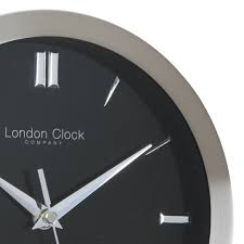 theo contemporary wall clock black close