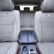 car suv truck pu leather seat cushion covers 5 seat full set seats gray 0