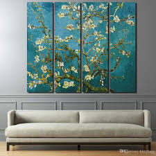 bedroom wall art canvas. Fine Bedroom 2018 Canvas Paintings Printed Flowering Cherry Trees Wall Art  Pictures For Living Room Bedroom Modular Home Decor Up 1281c From Kittyfang  Throughout N