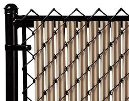Exellent Chain Link Fence Slats Beige Ridged For On Decor