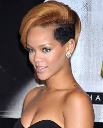 rihanna shaved edgy look hairstyle
