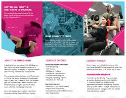 Gym Brochure Templates Gym Trifold Brochure Design Template In PSD Word Publisher 19