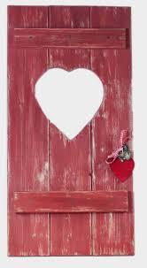 Fensterladen Deko Türchen Rot Mit Herz Aus Holz Zur Dekoration Etsy