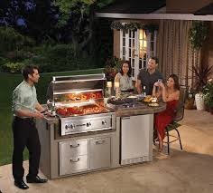 falcon gray deluxe sedona island package with 36 grill deluxe package includes a rotisserie double side burner and door and drawer combo