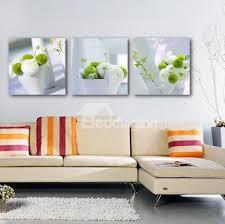 3 piece wall art flowers