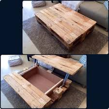 easy diy lift top pallet coffee table for living room decor ideas