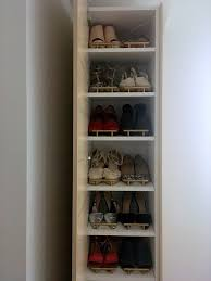 ... Rack, DIY Cabinet And Narrow For The Entryway Hanging Tall Shoe Rack  Organizer Design: ...