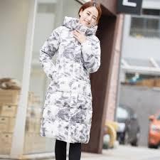 jolintsai fashion winter jacket women 2017 print hooded warm female jacket cotton coat parkas jackets winter