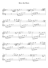 Kiss the rain yiruma | digital piano sheet music. Kiss The Rain Yiruma Easy Sheet Music For Piano Solo Musescore Com
