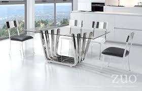 zuo modern fan dining table chrome    modern furniture canada