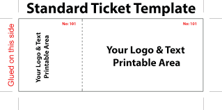Printable Avery Printable Tickets Template