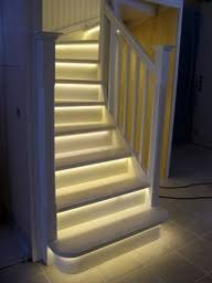 Under Stairs Lighting LED Light Strips On Stairway Under Stairs Lighting O