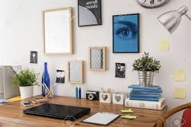 tidy office. Stock Photo - Stylish Tidy Wooden Desk With Data In Office C