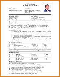 Beautiful Resume For Pharmacist Fresher Gallery Entry Level Resume