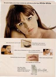 1967 bonnie bell white white make up eye nose prnt ad