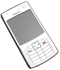 Nokia N70 Phone Png Clipart – Clipartly.com