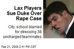 Duke Lacrosse players and parents sue duke durham   Us Versus Them THE HOLLYWEIRD TIMES back steps of Duke Lacrosse house