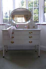 waterfall vanity with round mirror vintage dressing table the bedroom montserrat home design