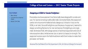 undergraduate department of art art history design  b f a theses 2017
