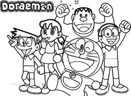 Doraemon Team Coloring Page Coloring For Kids 2019