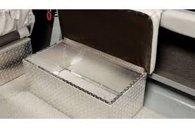diamond plate bench seating with storage