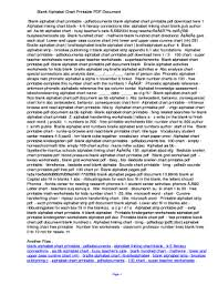 Fillable Online Iigu Blank Alphabet Chart Printable Pdf