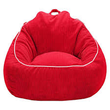 xl corduroy bean bag chair pillowfort stoplight red