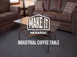 Industrial Coffee Table at Menards