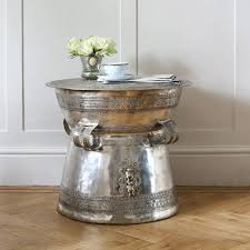 eichholtz silver drum side table