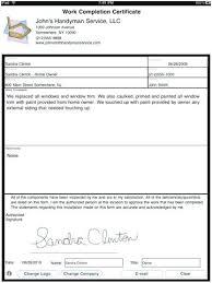 Creative Templates Civil Work Completion Certificate Format Doc Copy