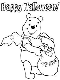 Small Picture Pooh Halloween Coloring Pages For Young Children Hallowen