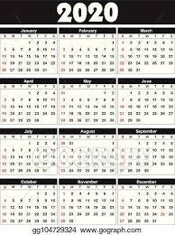 November 2020 Calendar Clip Art Vector Art Calendar 2020 Clipart Drawing Gg104729324