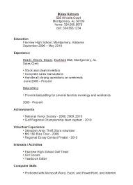 resume example with no experience simple resume simple resume examples job samples how to write a sample high school student resume no experience