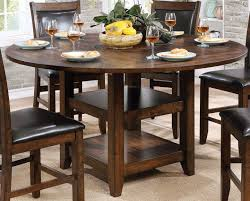 meagan ii brown cherry round counter height dining table main image
